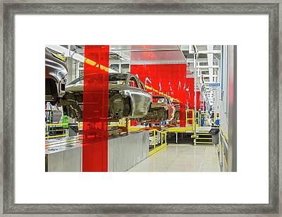 Car Assembly Production Line Framed Print
