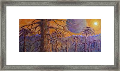 Framed Print featuring the painting Cosmic Light Series by Len Sodenkamp
