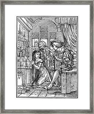 Dance Of Death, 1538 Framed Print