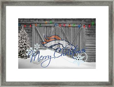 Denver Broncos Framed Print
