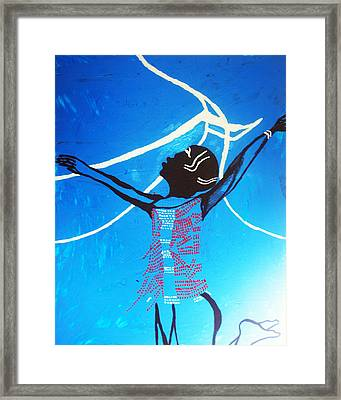 Dinka Dance - South Sudan Framed Print