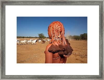 Himba Tribe Framed Print by Ton Koene