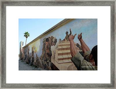 29 Palms Mural 4 Framed Print by Bob Christopher