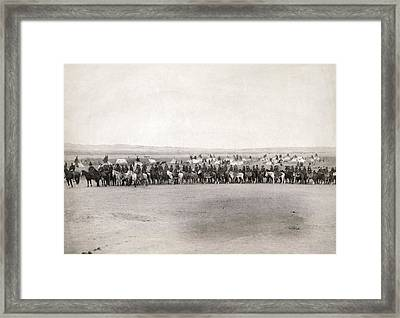 U.s. Army Scouts, 1891. Framed Print by Granger