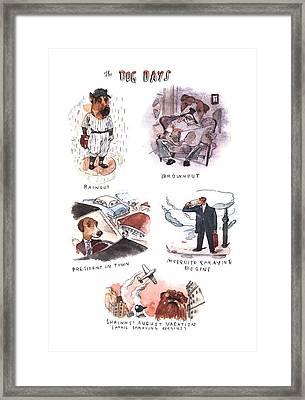 New Yorker August 14th, 2000 Framed Print by Barry Blitt