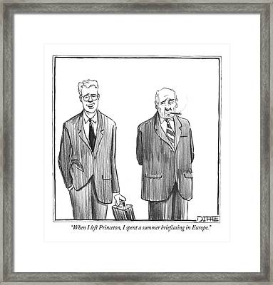 When I Left Princeton Framed Print by Matthew Diffee