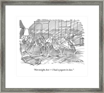 Not Tonight Framed Print by Michael Crawford