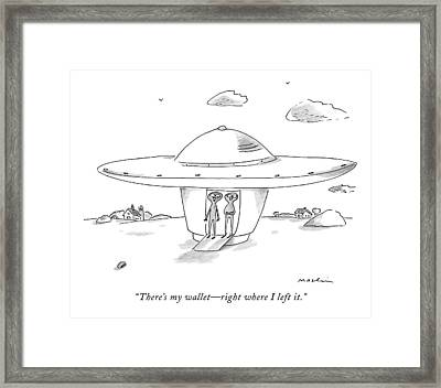 There's My Wallet - Right Where I Left It Framed Print by Michael Maslin