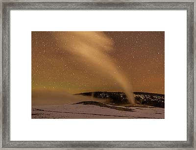 Usa, Wyoming, Yellowstone National Park Framed Print
