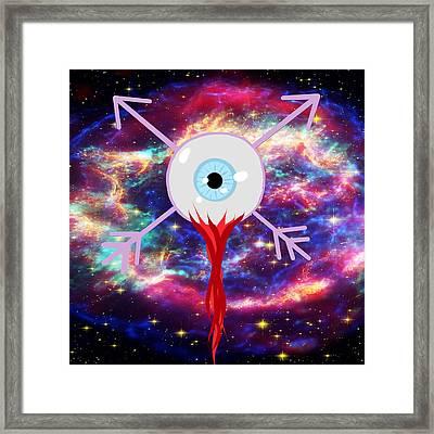 2d Arrowed Eyeball Framed Print