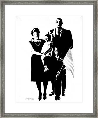 2k Black American Family Framed Print by G Cuffia