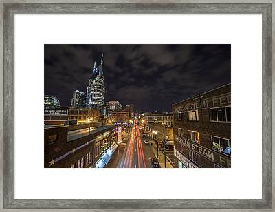 2nd Ave And Broadway Framed Print by CJ Schmit