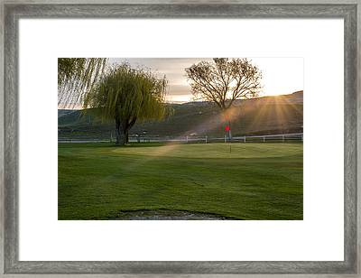 2nd Green Morning Light Framed Print by Randy Giesbrecht