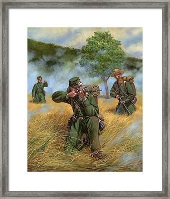2nd United States Sharpshooters Berdan's Framed Print by Mark Maritato