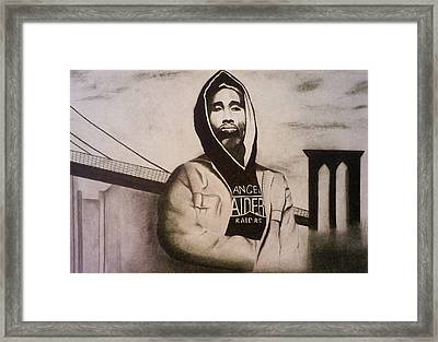 2pac Framed Print by Aileen Carruthers