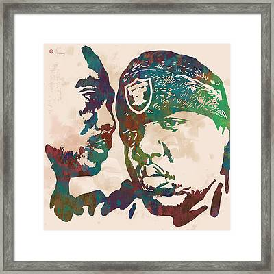 2pac Biggie Smalls Modern Pop Art  Poster Framed Print by Kim Wang
