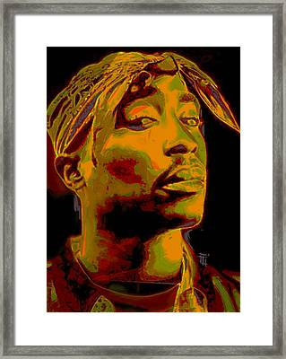 2pac  Framed Print by  Fli Art