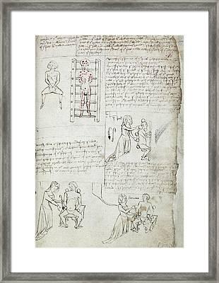 12th Century Medical Manuscript Framed Print