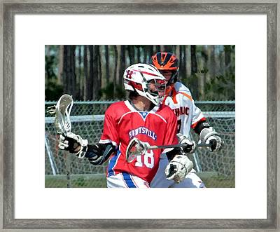 18 Push 2 Framed Print by Barry Spears