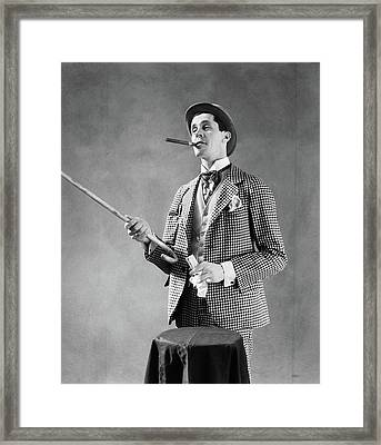 1910s 1920s Character Con Man Barker Framed Print