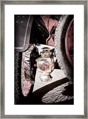 1911 Ford Model T Torpedo 4 Cylinder 25 Hp Taillight Framed Print by Jill Reger