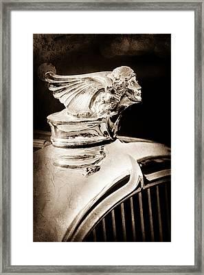 Framed Print featuring the photograph 1927 Buick Goddess Hood Ornament by Jill Reger