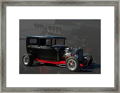 1931 Ford Model A Sedan Hot Rod Framed Print by Tim McCullough