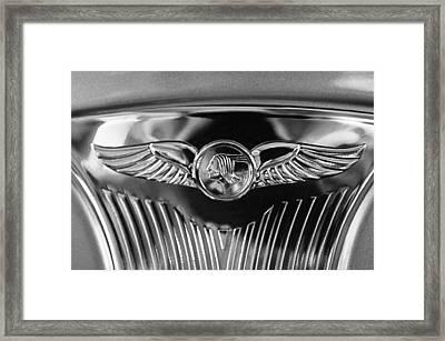1933 Pontiac Emblem Framed Print by Jill Reger