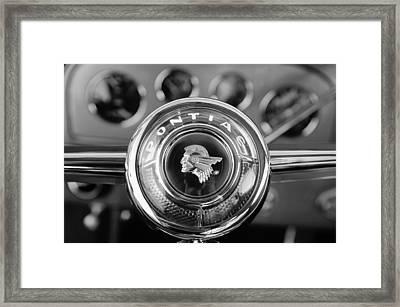 1933 Pontiac Steering Wheel Emblem Framed Print