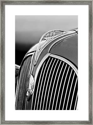 1937 Plymouth Hood Ornament Framed Print by Jill Reger