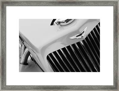 1939 Aston Martin 15-98 Abbey Coachworks Swb Sports Grille Emblem Framed Print by Jill Reger