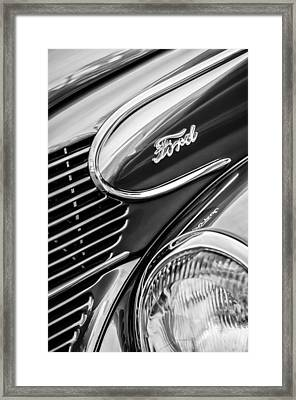 1939 Ford Woody Wagon Side Emblem Framed Print by Jill Reger