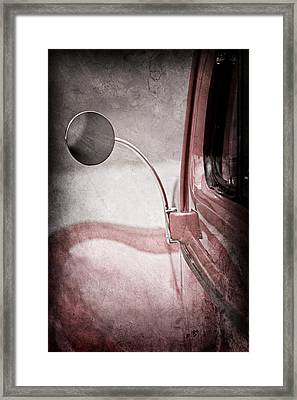1940 Ford Deluxe Coupe Rear View Mirror Framed Print by Jill Reger