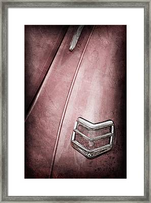 1940 Ford Deluxe Coupe Taillight Framed Print by Jill Reger