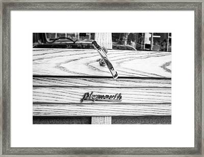 1940 Plymouth Deluxe Woody Wagon Emblem Framed Print by Jill Reger