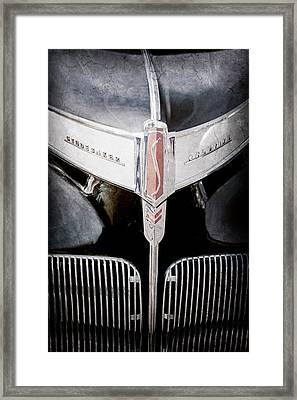 1941 Studebaker Champion Hood Emblem Framed Print by Jill Reger
