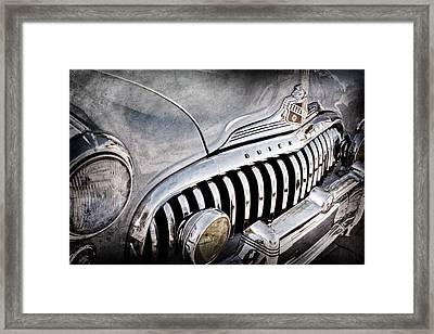 1947 Buick Eight Super Grille Emblem Framed Print by Jill Reger