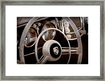 1954 Porsche 356 Bent-window Coupe Steering Wheel Emblem Framed Print