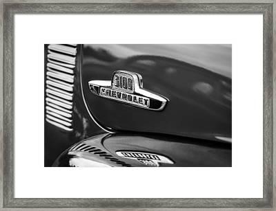 1955 Chevrolet 3100 Pickup Truck Emblem Framed Print