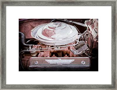 1955 Ford Thunderbird Engine Framed Print