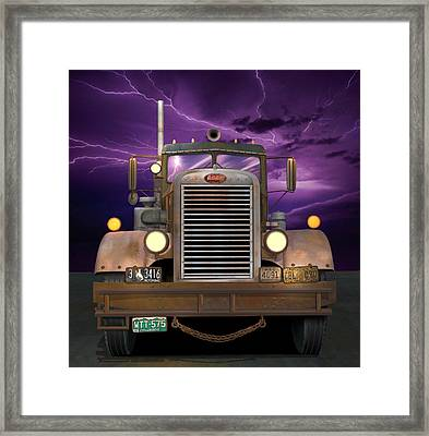 1955 Peterbilt Framed Print