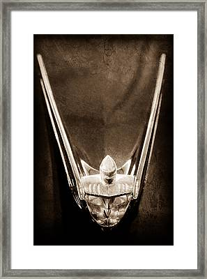 1956 Lincoln Premiere Convertible Hood Ornament Framed Print