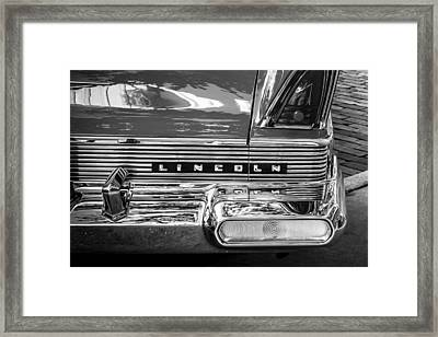 1957 Lincoln Premiere Coupe Painted Bw   Framed Print by Rich Franco