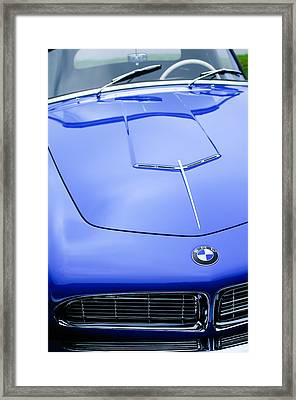 1958 Bmw 507 Series II Roadster Hood Emblem Framed Print