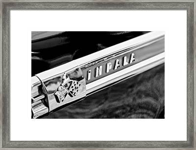 1959 Chevrolet Impala Emblem Framed Print by Jill Reger