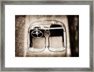 1960 Chevrolet Corvette Interior Framed Print
