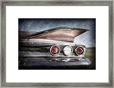 1960 Chevrolet Impala Resto Rod Taillight Framed Print by Jill Reger