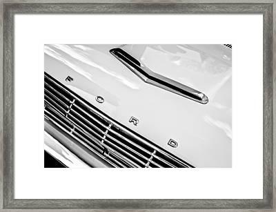 1963 Ford Falcon Futura Convertible Hood Emblem Framed Print