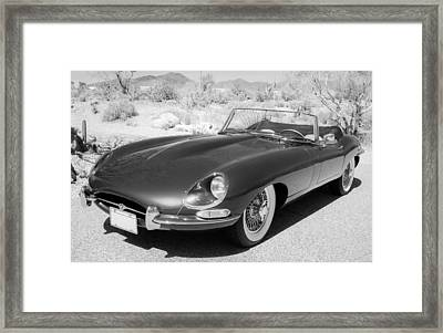 1963 Jaguar Xke Roadster Framed Print by Jill Reger