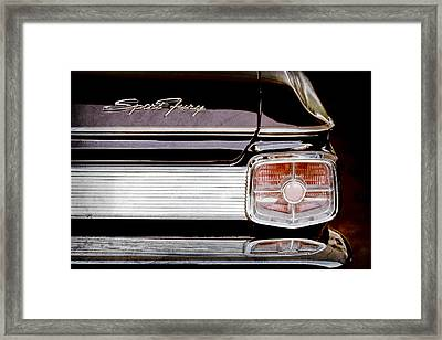 1963 Plymouth Sport Fury Taillight Emblem Framed Print by Jill Reger